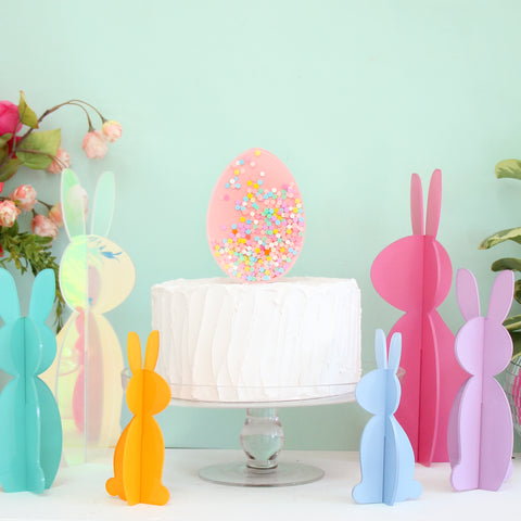 Confetti Filled Shaker Egg Cake Topper