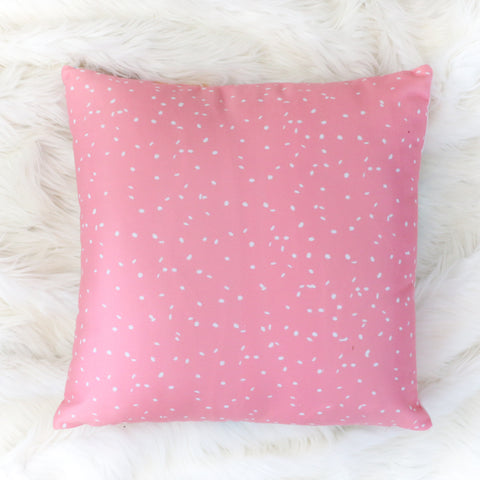 Christmas Throw Pillow - Pink Snow