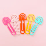 Acrylic Paper Clips - Rainbows - Choose your colors