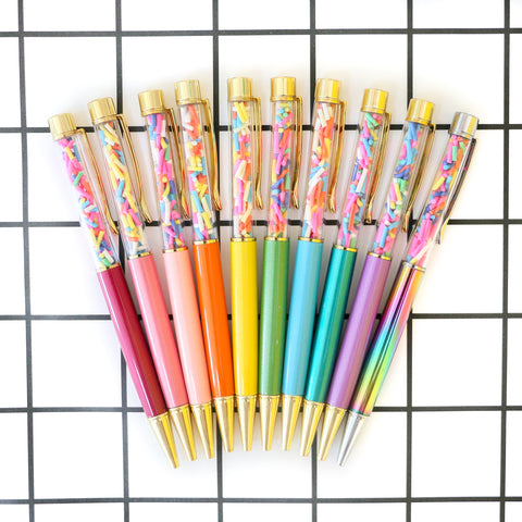 Party Pen - Sprinkle filled pens - Choose your color