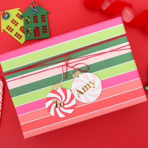 Christmas Classic Stripe Wrapping Paper