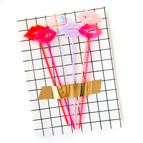 Lips Drink Stirrers and Dessert Kebob Skewers