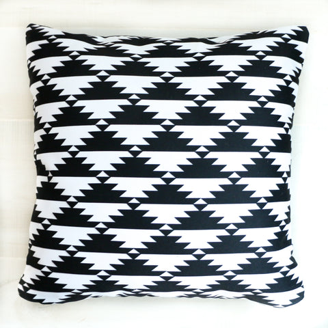 Black and White Aztec Throw Pillow