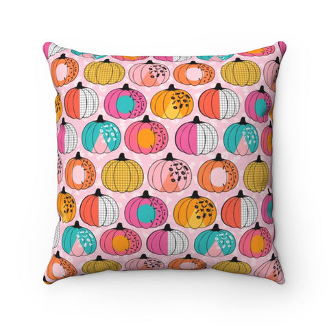 80's Pumpkin Halloween Throw Pillow
