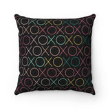 XOXOXO Neon Sign Throw Pillow