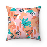 Welcome to the Jungle Orange Throw Pillow