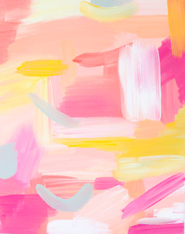 Pink Abstract Printable Art