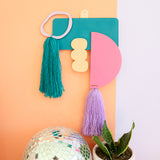 Abstract Shapes Yarn Wall Hanging Kit