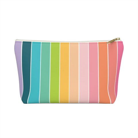 Rainbow Stripe Zipper Pouch