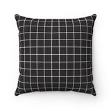 80's Themed Throw Pillow- Black Grid