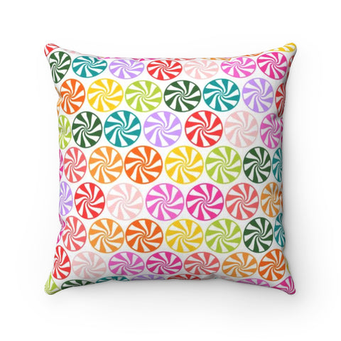 Candy Swirl Holiday Throw Pillow