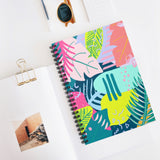 80s Tropical Patterned Notebook - Ruled Line