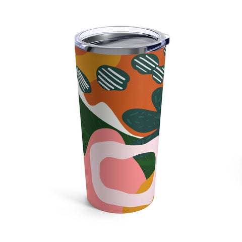 Abstract Forest Print Drink Tumbler