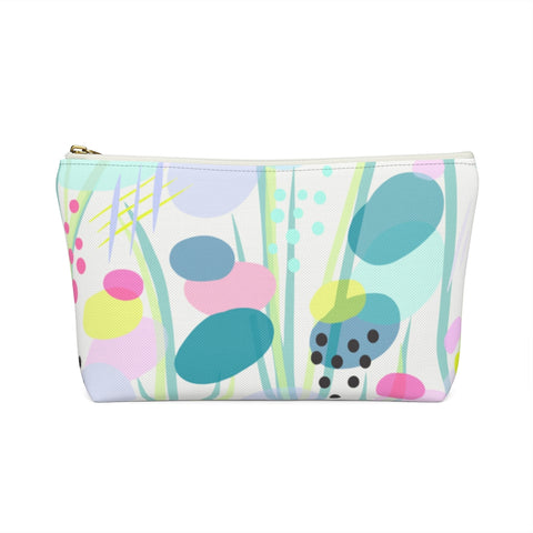 Abstract Pond Flowers Zipper Pouch