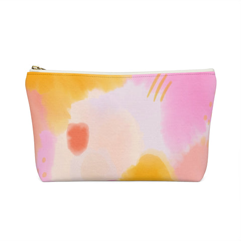 Pink Watercolor Zipper Pouch
