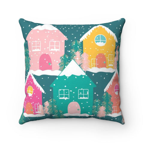Gingerbread House Holiday Throw Pillow