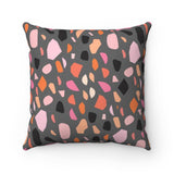Halloween Terrazzo Throw Pillow