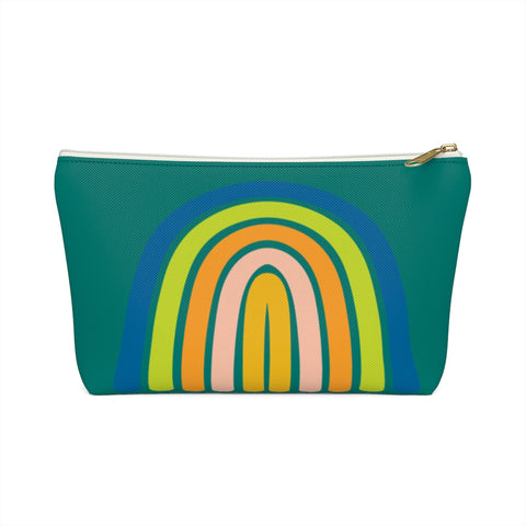 Rainbow Zipper Pouch in Cool Tones