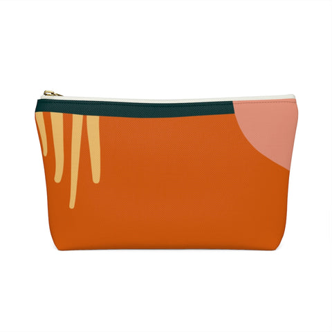 Blush and Rust Geometric Shapes Zipper Pouch