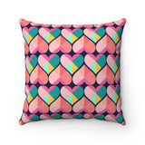 Small Geometric Heart Valentine's Throw Pillow