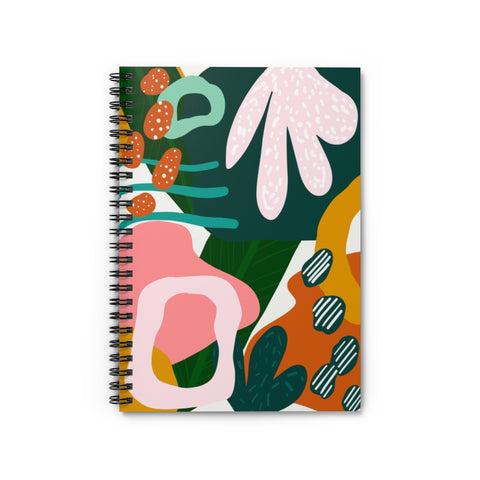 Abstract Forest Print Notebook - Ruled Line
