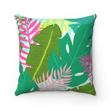 Colorful Tropical Throw Pillow