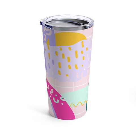 80's Abstract Print Drink Tumbler