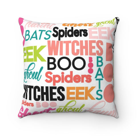 Halloween Typography Throw Pillow