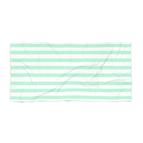 Mint Cabana Stripe Beach Towel