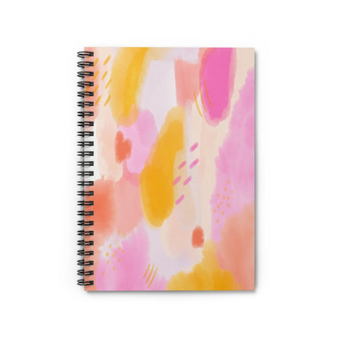 Pink Watercolor Notebook - Ruled Line