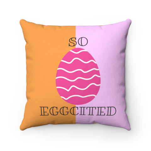 So Eggcited Throw Pillow