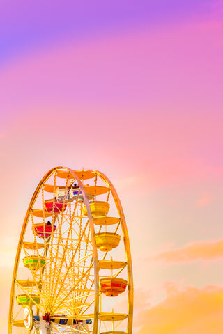 Ferris wheel at Sunset Printable Art