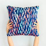 Confetti Dots Throw Pillow Case with Gold Piping