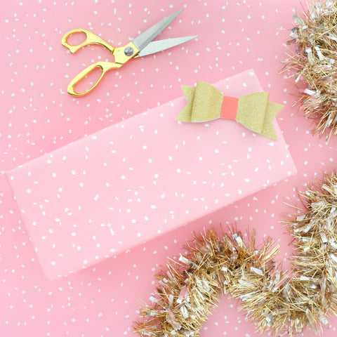 Wrapping Paper - Pink Snowfall gift wrapping paper sheets - colorful birthday present gift wrap