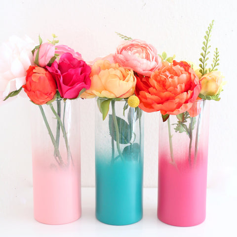 Ombre Flower Vase - Choose your color