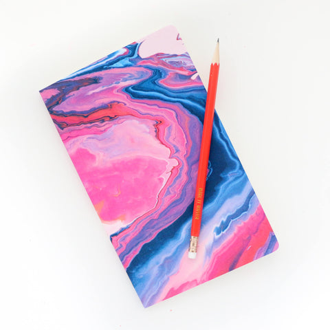 Marble Print Notebook - Blank pages - soft cover marble print Journal