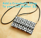 Add a Crossbody Strap To Your Cell Phone Wallet Order - Faux Leather and Detachable