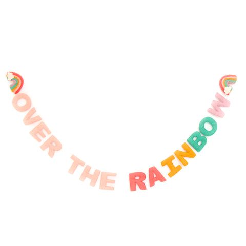 Over the Rainbow felt garland
