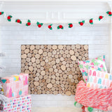Holly and Berry Felt Garland