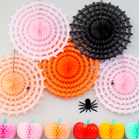 Paper Spiderweb Halloween Decorations