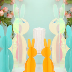 Iridescent Acrylic Bunny Decorations