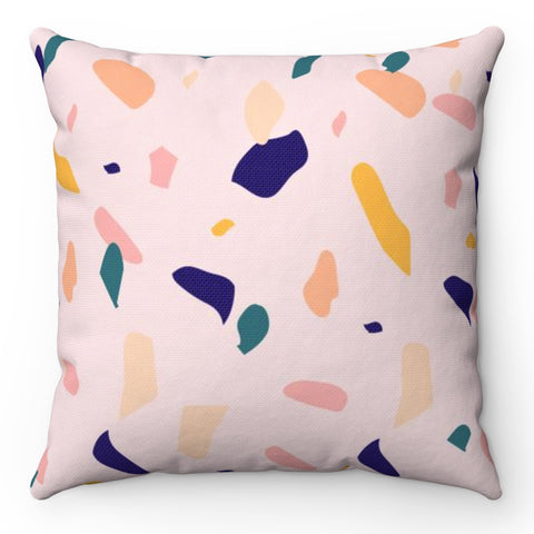 Muted Terrazzo Throw Pillow