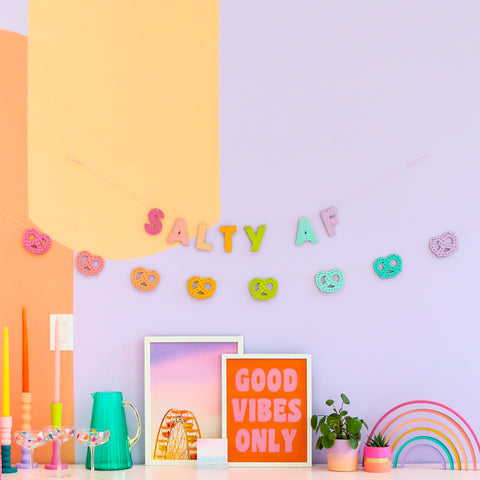 Salty AF DIY Paint Your Own Wood Garland