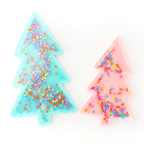 Tree Sprinkle Shaker Acrylic Christmas Cake Toppers