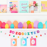 So Eggcited Easter Felt Garland
