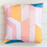 Pastel Stained Glass Throw Pillow