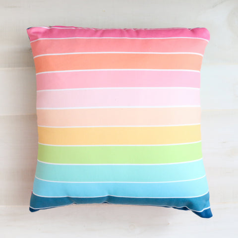 Rainbow Stripe Throw Pillow