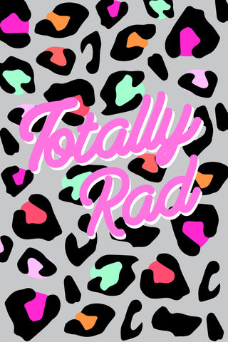 Totally Rad Neon Leopard Print Printable Art