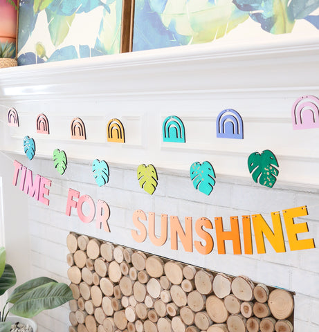 Time for Sunshine DIY Paint Your Own Wood Garland