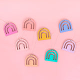 Minimal Rainbow DIY Paint Your Own Wood Garland